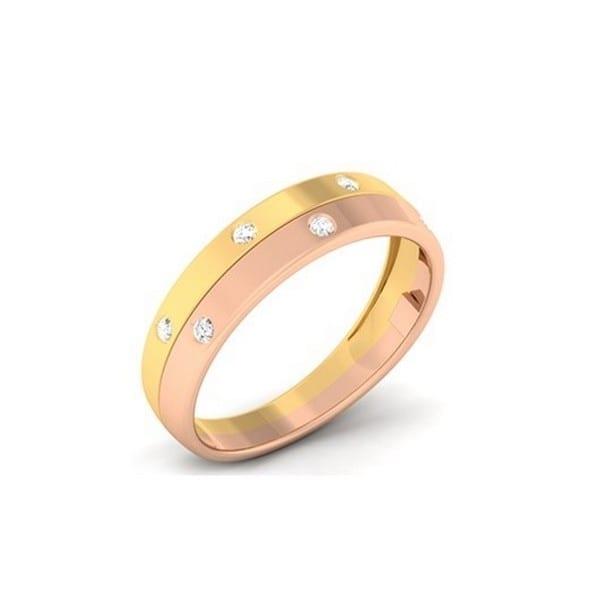 Diamond Ring In 18Kt Gold (3.690 Gram) With Diamonds (0.24 Ct) For Men