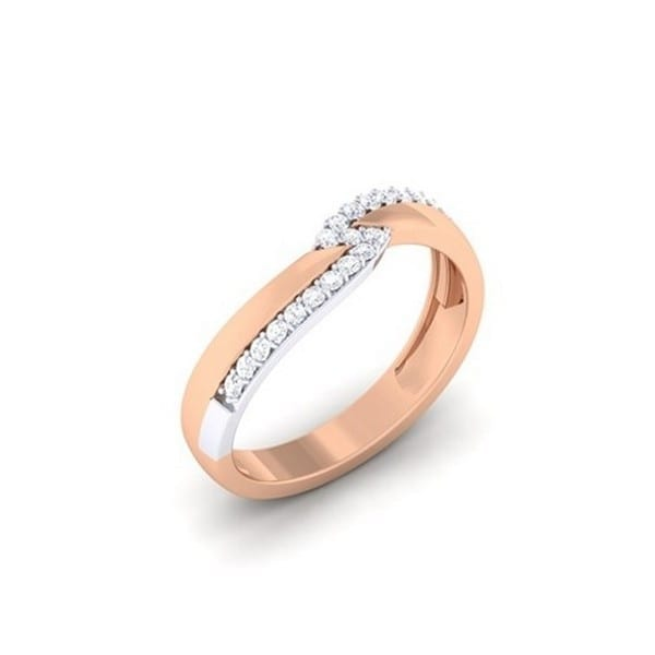 Diamond Ring in 18Kt Gold (3.860 gram) with Diamonds (0.20 Ct) for Women