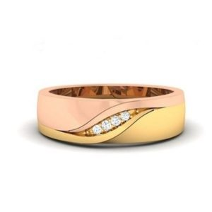 Diamond Ring in 18Kt Gold (4.110 gram) with Diamonds (0.04 Ct) for Women