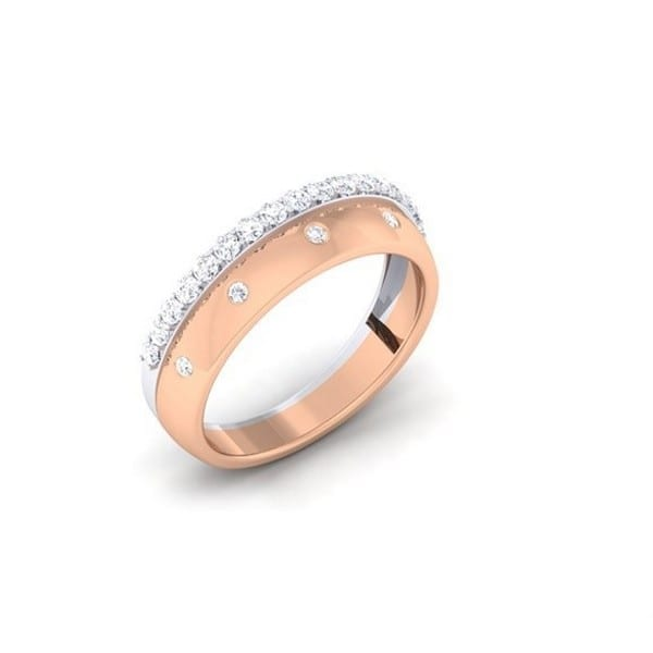 Diamond Ring in 18Kt Gold (3.590 gram) with Diamonds (0.41 Ct) for Women
