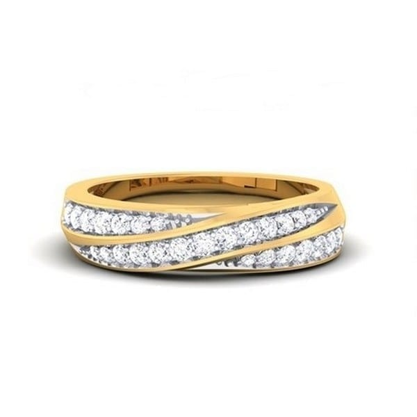 Diamond Ring in 18Kt Gold (4.600 gram) with Diamonds (0.39 Ct) for Women