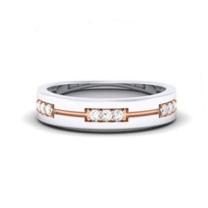 Diamond Ring in 18Kt Gold (3.660 gram) with Diamonds (0.13 Ct) for Women