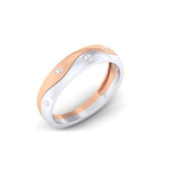 Diamond Ring In 18Kt Gold (4.190 Gram) With Diamonds (0.22 Ct) For Men