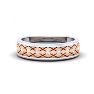 Diamond Ring In 18Kt Gold (6.080 Gram) With Diamonds (0.31 Ct) For Men
