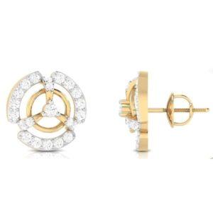 Diamond Earring in 18Kt Gold (3.200 gram) with Diamonds (0.62 Ct)