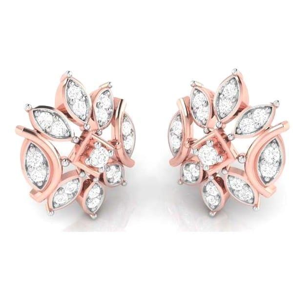 Diamond Earring in 18Kt Gold (3.35 gram) with Diamonds (0.26 Ct)