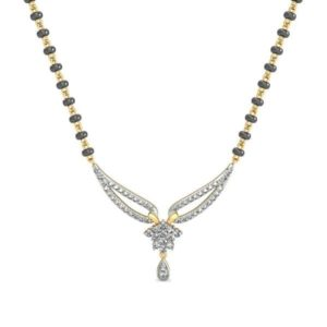 Diamond Mangalsutra In 18Kt Gold(3.290 gram)with Diamonds(0.52 Ct)