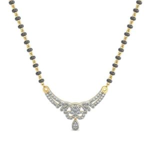 Diamond Mangalsutra In 18Kt Gold(2.950 gram)with Diamonds(0.23 Ct)