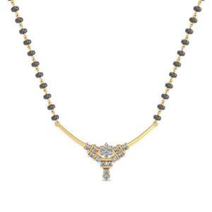 Diamond Mangalsutra In 18Kt Gold(2.350 gram)with Diamonds(0.25 Ct)