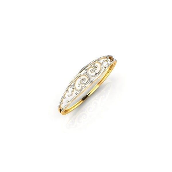 Diamond Bracelet In 18Kt Gold(17.780 gram)with Diamonds(1.10 Ct)
