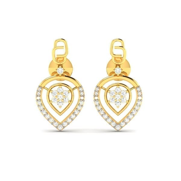Diamond Earring in 18Kt Gold (3.270 gram) with Diamonds (0.52 Ct)