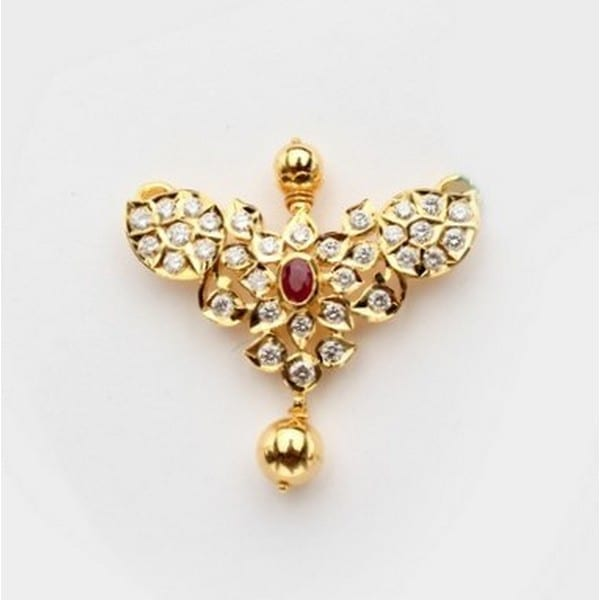 Diamond Mangalsutra In 22Kt Gold(15.800 gram)with Diamonds(0.97 Ct)
