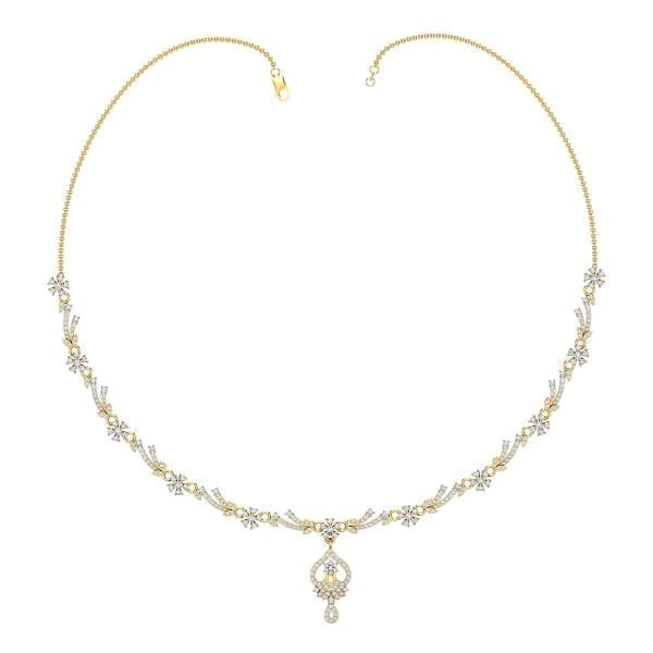 Diamond Necklace In 18Kt Gold(20.490 Gram)With Diamonds(2.54 Ct)
