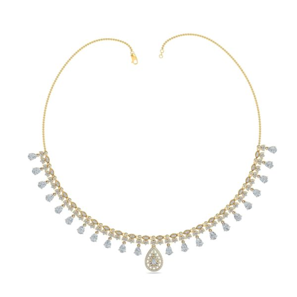 Diamond Necklace In 18Kt Gold(24.350 Gram)With Diamonds(3.25 Ct)