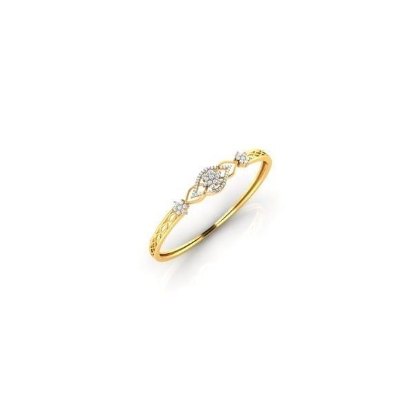 Diamond Bracelet In 18Kt Gold(15.820 gram)with Diamonds(0.87 Ct)