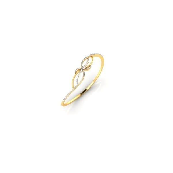 Diamond Bracelet In 18Kt Gold(9.820 gram)with Diamonds(0.88 Ct)