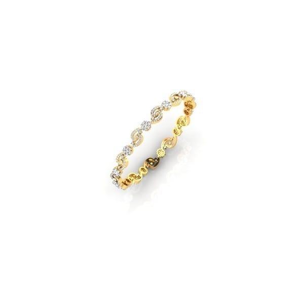 Diamond Bangles In 18Kt Gold(15.100 Gram)With Diamonds(4.48 Ct)