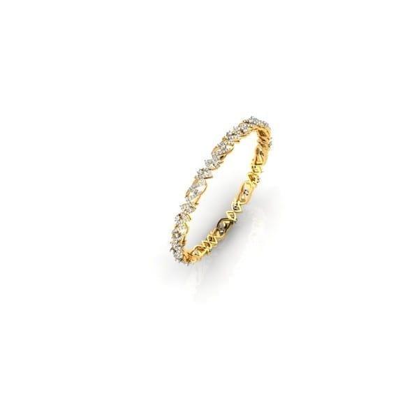 Diamond Bangles In 18Kt Gold(14.380 Gram)With Diamonds(3.09 Ct)