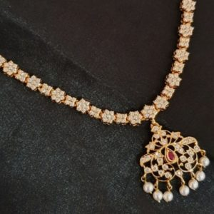 Diamond Necklace in 22KT Yellow Gold (50.080 grams) with Diamonds (5.05 cts)