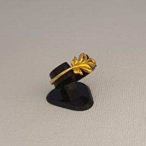 Gold Ring (1.720 Grams), 22Kt Plain Yellow Gold Jewellery for Women