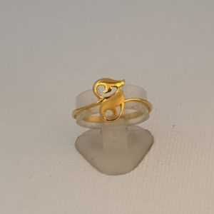 Gold Ring (1.690 Grams), 22Kt Plain Yellow Gold Jewellery for Women