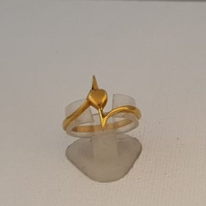Gold Ring (2.550 Grams), 22Kt Plain Yellow Gold Jewellery for Women