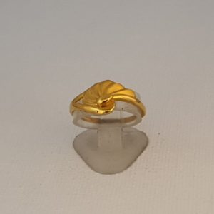 Gold Ring (2.050 Grams), 22Kt Plain Yellow Gold Jewellery for Women