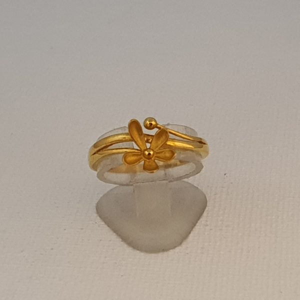 Gold Ring (2.780 Grams), 22Kt Plain Yellow Gold Jewellery for Women