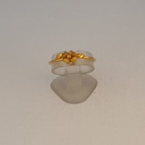 Gold Ring (1.310 Grams), 22Kt Plain Yellow Gold Jewellery for Women