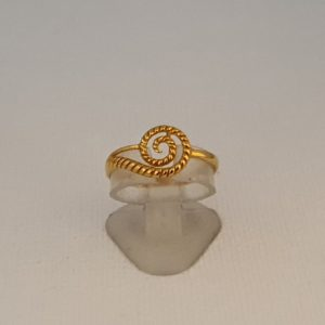 Gold Ring (1.550 Grams), 22Kt Plain Yellow Gold Jewellery for Women