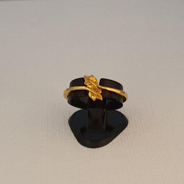 Gold Ring (2.140 Grams), 22Kt Plain Yellow Gold Jewellery for Women