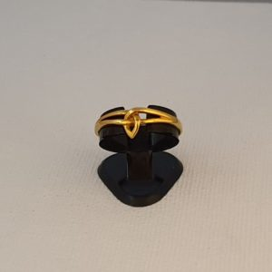 Gold Ring (1.740 Grams), 22Kt Plain Yellow Gold Jewellery for Women