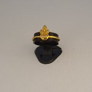 Gold Ring (2.630 Grams), 22Kt Plain Yellow Gold Jewellery for Women
