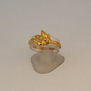 Gold Ring (1.850 Grams), 22Kt Plain Yellow Gold Jewellery for Women
