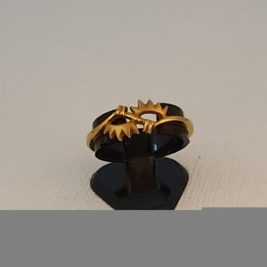 Gold Ring (2.190 Grams), 22Kt Plain Yellow Gold Jewellery for Women