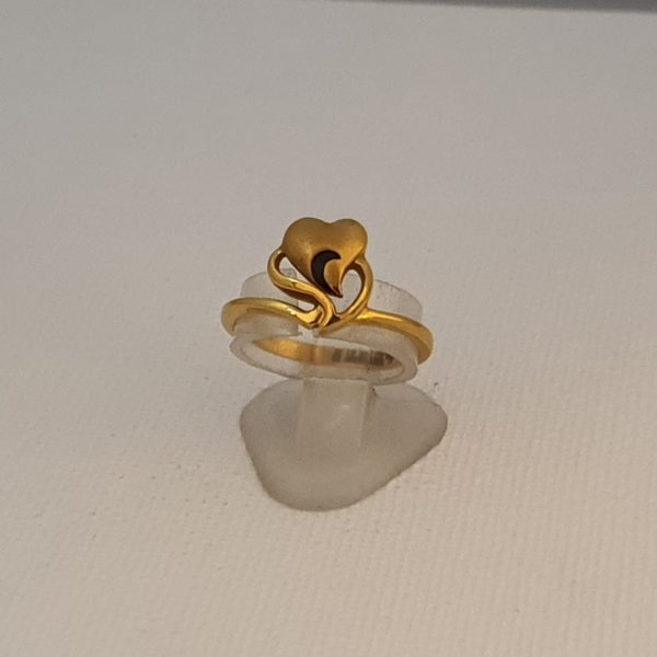 Gold Ring (3.030 Grams), 22Kt Plain Yellow Gold Jewellery for Women