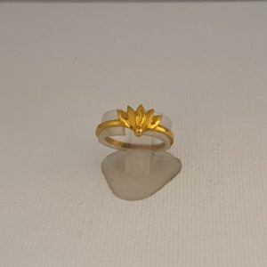 Gold Ring (1.610 Grams), 22Kt Plain Yellow Gold Jewellery for Women