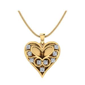 Diamond Pendant In 18Kt Gold(4.230 Gram)With Diamonds(0.40 Ct) for Women
