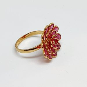 Ruby Ring In 18Kt Yellow Gold (3.450 Grams)