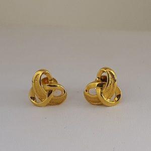 Gold Earrings (2.900 Grams), 22Kt Plain Yellow Gold Jewellery – Ear Tops