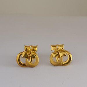 Gold Earrings (2.280 Grams), 22Kt Plain Yellow Gold Jewellery – Ear Studs