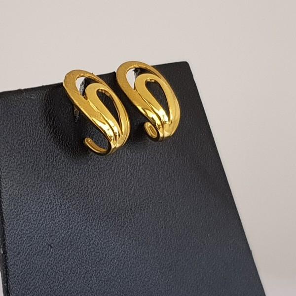 Gold Earrings (4.880 Grams), 22Kt Plain Yellow Gold Jewellery – Ear Studs