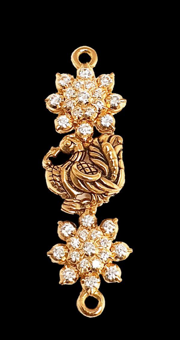 Diamond mogappu in 22K Yellow Gold (12.880 Grams) set with Diamonds (1.17 ct)